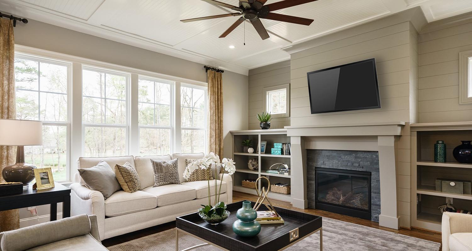 StillWater, Living Room - Model Home Tour, Lot 2 by Hayes Barton Homes