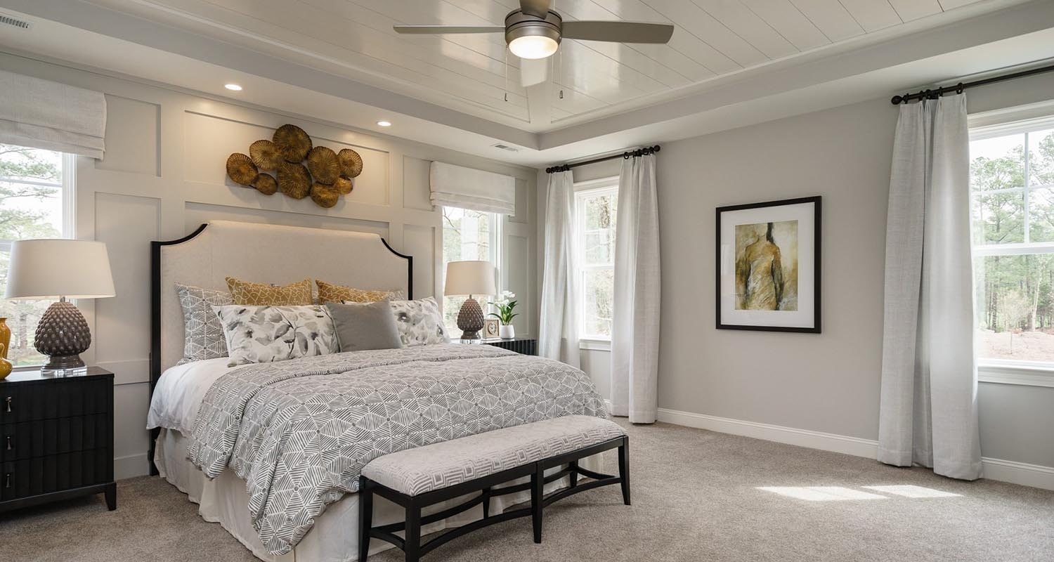 StillWater  Master Bedroom Room   Model Home Tour  Lot 2 by Hayes Barton  Homes. Stillwater in Apex  NC   New Custom Homes for Sale in the Estates
